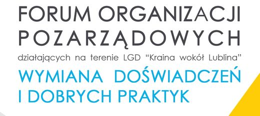 Forum organizacji pozarządowych - 28 kwietnia 2018 roku  GOKSiR Niedrzwica Duża