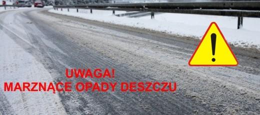 Ostrzeżenie o marznacych opadach deszczu - 1.02.2019 r.