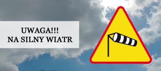 Ostrzeżenie o silnym wietrze - 30.09.2019 r. - 01.10.2019 r.